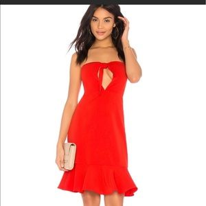 Endless Rose Strapless red dress